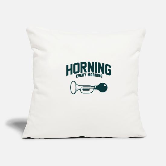 Pilot Pillow Cases - Honk every morning in the morning - Pillowcase 17,3'' x 17,3'' (45 x 45 cm) natural white