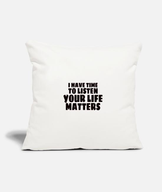 Mental Health Pillow Cases - MENTAL HEALTH AWARENESS: Life Matters - Pillowcase 17,3'' x 17,3'' (45 x 45 cm) natural white