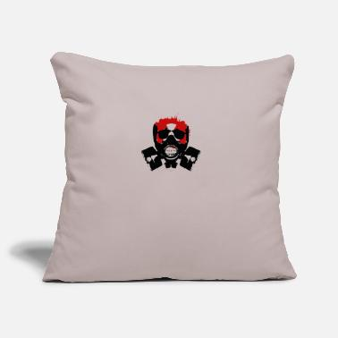 Sleek COOL SCARY SKULL SLEEK DESIGN - Pillowcase 17,3'' x 17,3'' (45 x 45 cm)