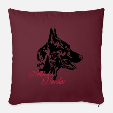 HOLLANDSE HERDER dog sport dogs dog Wilsigns - Pillowcase 17,3'' x 17,3'' (45 x 45 cm)