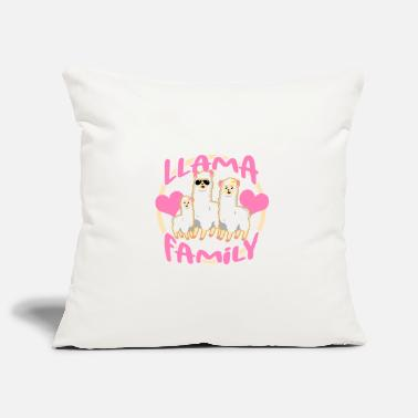 Exercise Llama family - Pillowcase 17,3'' x 17,3'' (45 x 45 cm)