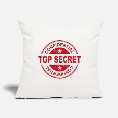 Secret Top Secret Secret Stamp Design - Pillowcase 17,3'' x 17,3'' (45 x 45 cm)