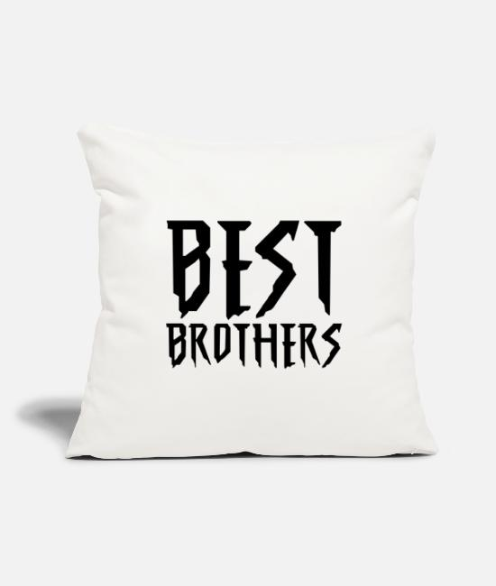 Friendship Pillow Cases - Best brothers - Pillowcase 17,3'' x 17,3'' (45 x 45 cm) natural white