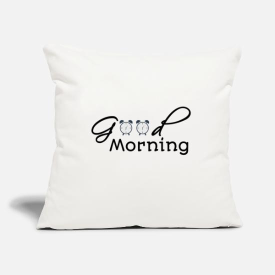 Monday Blues Pillow Cases - Good Morning - Good morning - Pillowcase 17,3'' x 17,3'' (45 x 45 cm) natural white
