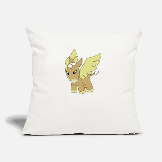Wing Pillow Cases - pony - Pillowcase 17,3'' x 17,3'' (45 x 45 cm) natural white