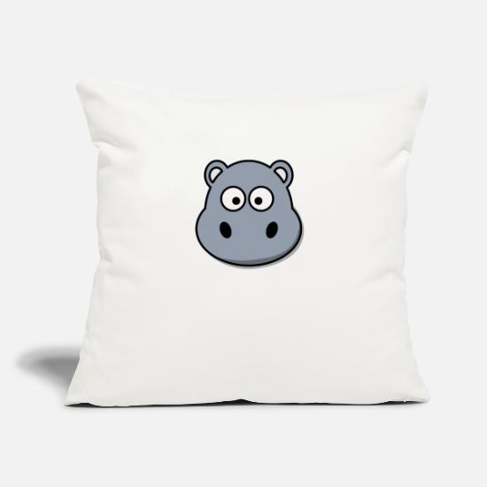 Love Pillow Cases - hippo - Pillowcase 17,3'' x 17,3'' (45 x 45 cm) natural white