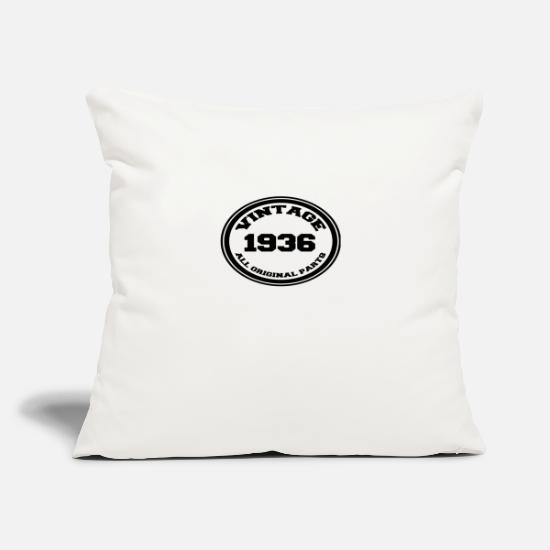 Birthday Pillow Cases - Year of birth / year 1936 - Pillowcase 17,3'' x 17,3'' (45 x 45 cm) natural white