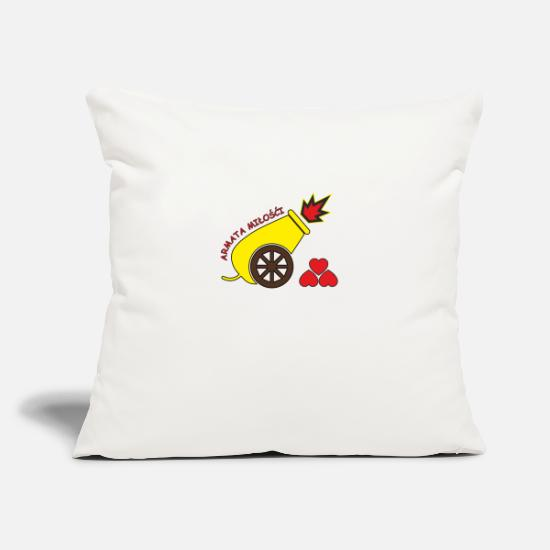 Love Pillow Cases - A cannon of love - Pillowcase 17,3'' x 17,3'' (45 x 45 cm) natural white
