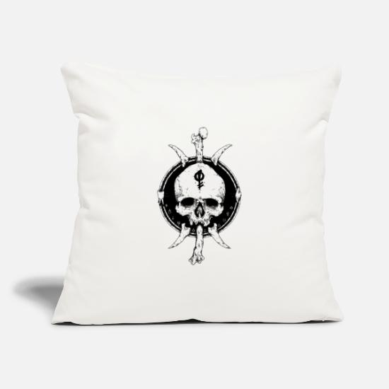 Mythical Collection V2 Pillow Cases - Artistic Skull - Pillowcase 17,3'' x 17,3'' (45 x 45 cm) natural white