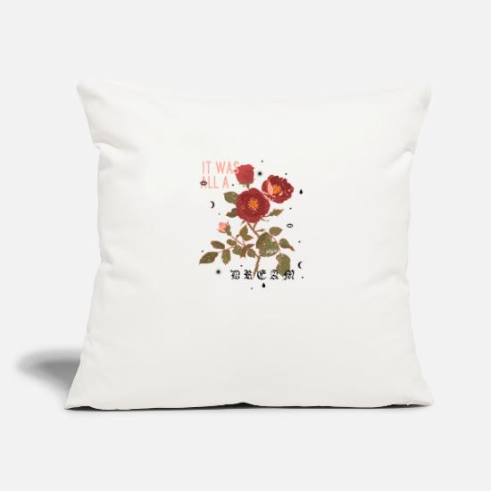 Game Pillow Cases - Roses / dream - Pillowcase 17,3'' x 17,3'' (45 x 45 cm) natural white