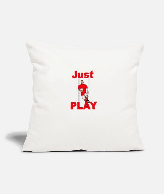 Lyon Rugby Toulousain Pillow Cases - RUGBY Just Play - Pillowcase 17,3'' x 17,3'' (45 x 45 cm) natural white