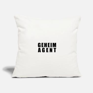Secret Agent secret agent - Pillowcase 17,3'' x 17,3'' (45 x 45 cm)