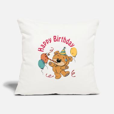Happy Birthday Petit ourson - Happy Birthday - Housse de coussin décorative 44 x 44 cm