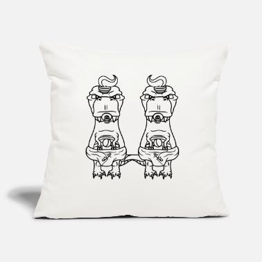 Pacifier 2 twins brothers team couple baby diaper cute cute - Pillowcase 17,3'' x 17,3'' (45 x 45 cm)