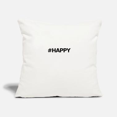 Black Happy black font / Happy black - Funda de cojín