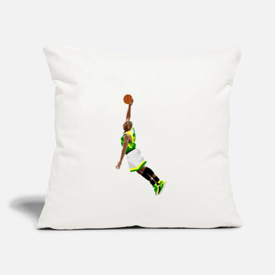 Gift Idea Pillow Cases - basketball - Pillowcase 17,3'' x 17,3'' (45 x 45 cm) natural white