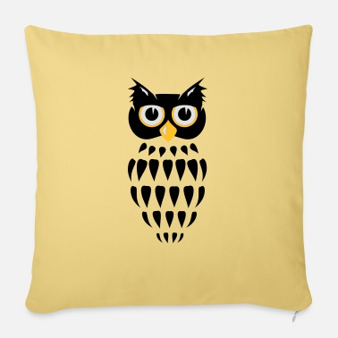 Stylized stylized Owl - Pillowcase 17,3'' x 17,3'' (45 x 45 cm)