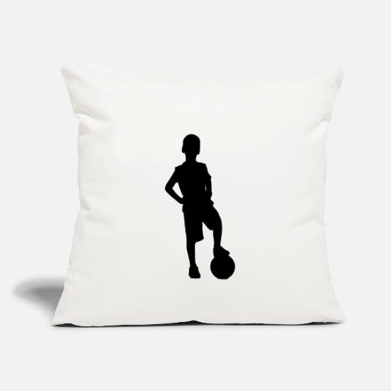 Ball Pillow Cases - Football kid - Pillowcase 17,3'' x 17,3'' (45 x 45 cm) natural white