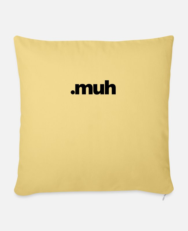 Alphabet Pillow Cases - Dot muh - Pillowcase 17,3'' x 17,3'' (45 x 45 cm) washed yellow