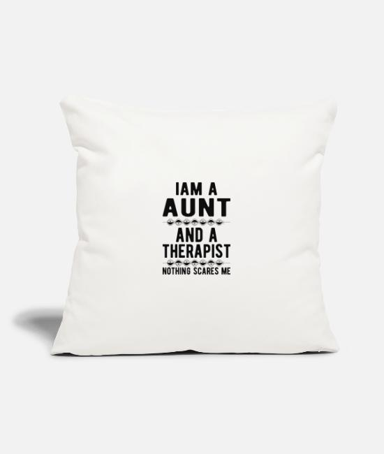Mental Health Pillow Cases - Aunt Therapist: Iam a Aunt and a Therapist - Pillowcase 17,3'' x 17,3'' (45 x 45 cm) natural white