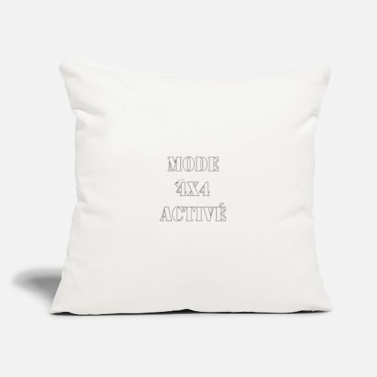 Diesel Pillow Cases - 4x4 mode activated, white black outline - Pillowcase 17,3'' x 17,3'' (45 x 45 cm) natural white