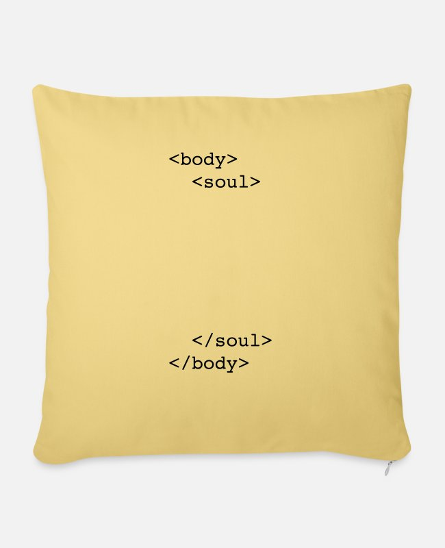 Offspring Pillow Cases - html body & soul - Pillowcase 17,3'' x 17,3'' (45 x 45 cm) washed yellow