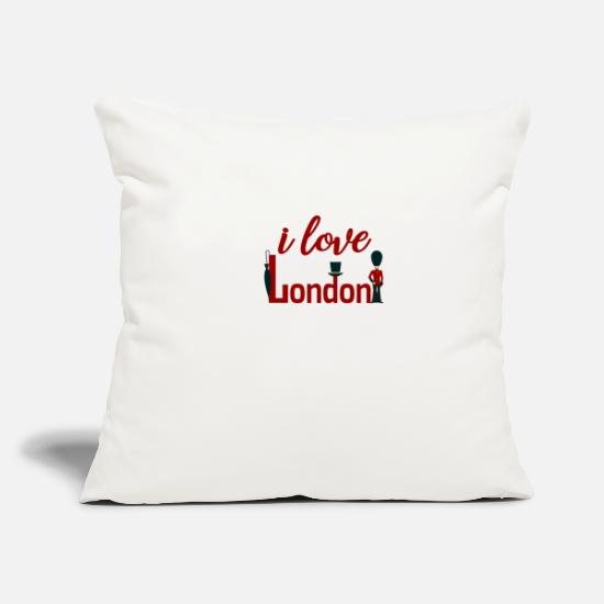 Love Pillow Cases - i love london souvenir souvenir travel trip vacation - Pillowcase 17,3'' x 17,3'' (45 x 45 cm) natural white