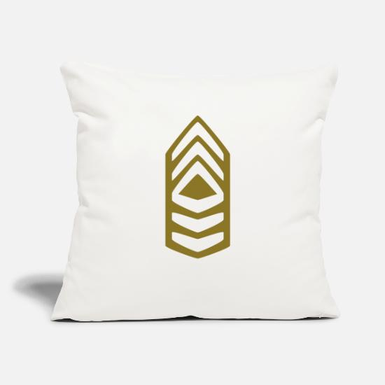 Army Pillow Cases - Insignia Master Sergeant - Pillowcase 17,3'' x 17,3'' (45 x 45 cm) natural white