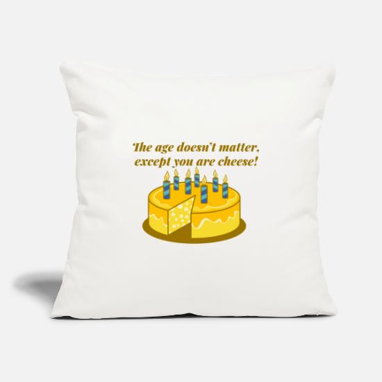 Birthday Pillow Cases - Birthday saying Old Age Aging Funny Funny - Pillowcase 17,3'' x 17,3'' (45 x 45 cm) natural white