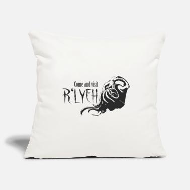 Rlyeh Come and visit R'lyeh - Cthulhu / Lovecraft - Pillowcase 17,3'' x 17,3'' (45 x 45 cm)