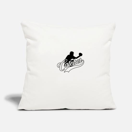 Gift Idea Pillow Cases - Catcher Baseball Team Sport Team Sport - Pillowcase 17,3'' x 17,3'' (45 x 45 cm) natural white