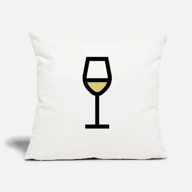 White Wine White wine glass, white wine - Pillowcase 17,3'' x 17,3'' (45 x 45 cm)