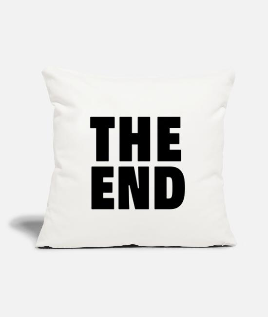 Graphic Art Pillow Cases - The End - Pillowcase 17,3'' x 17,3'' (45 x 45 cm) natural white