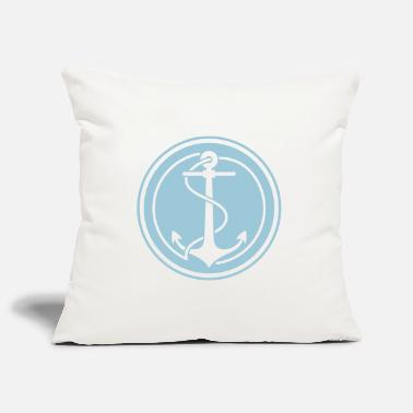 Dew Anchor with rope in circle - Pillowcase 17,3'' x 17,3'' (45 x 45 cm)