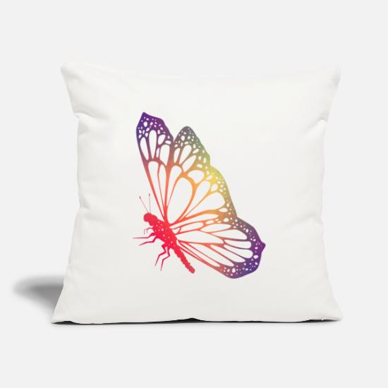 Butterfly Pillow Cases - Butterfly Gifts Butterflies Butterflies Colorful - Pillowcase 17,3'' x 17,3'' (45 x 45 cm) natural white