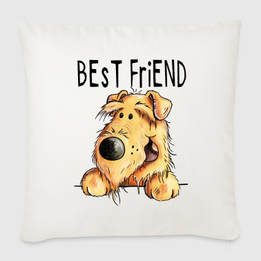 My Best Friend - Airedale Terrier - Dog - Gift - Sofa pillow cover 44 x 44 cm