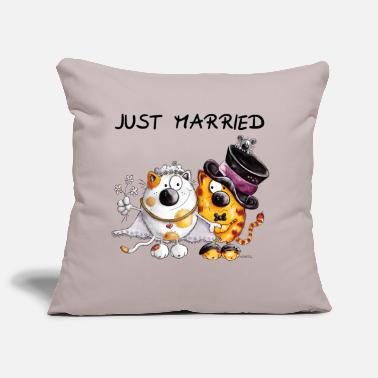 Wedding  Just Married - Sofa pillow cover 44 x 44 cm