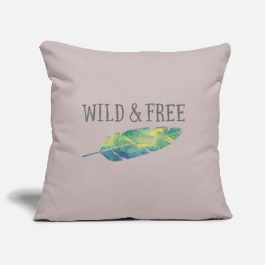 Wild & Free (Watercolor Feather) - Pillowcase 17,3'' x 17,3'' (45 x 45 cm)