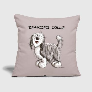 Bearded Collie Mignon Bearded Collie - Housse de coussin décorative 44 x 44 cm