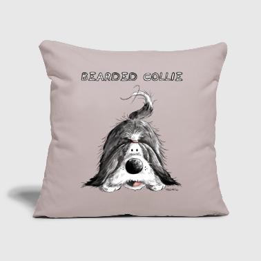 Bearded Collie Bearded Collie - Housse de coussin décorative 44 x 44 cm