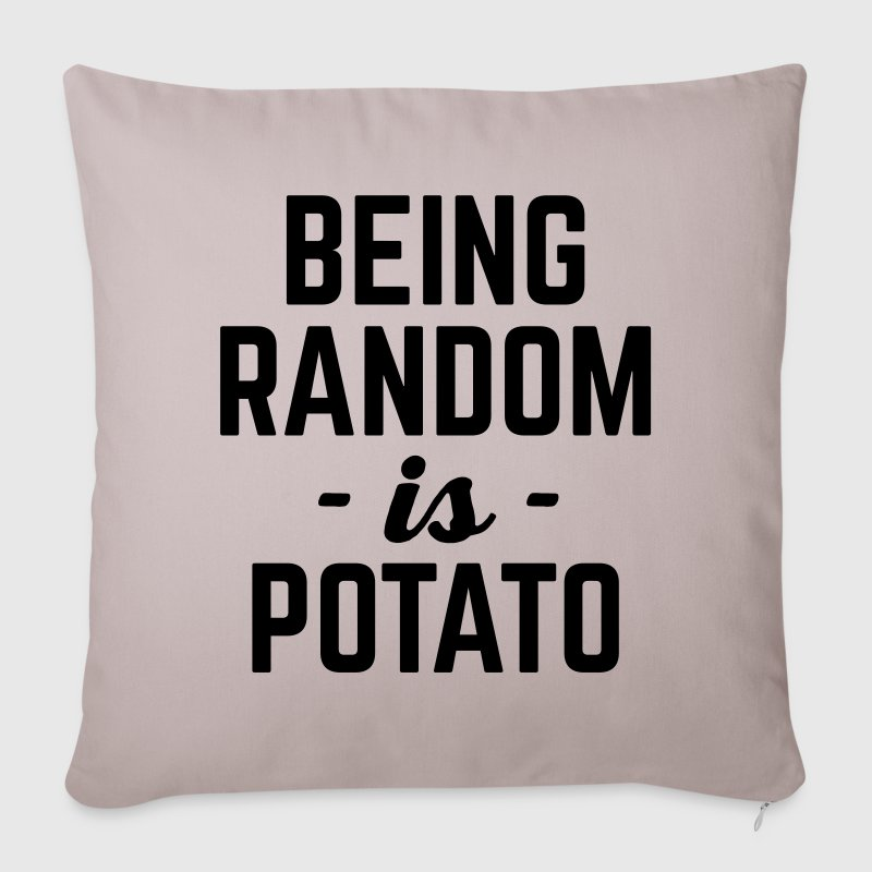 Being Random Funny Quote - Sofa pillow cover 44 x 44 cm