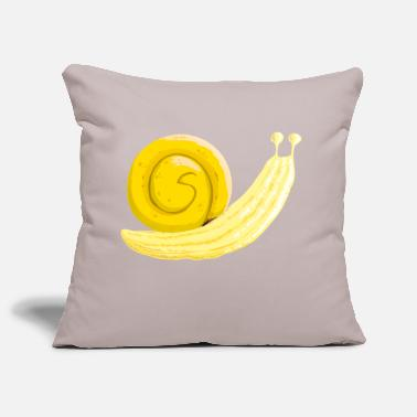 Banana snail - Sofa pillowcase 17,3'' x 17,3'' (45 x 45 cm)