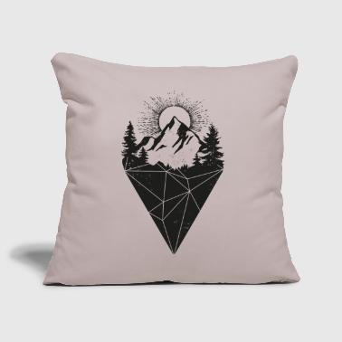 mountain sun grunge - Sofa pillow cover 44 x 44 cm