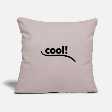Cool cool cool cool black - Sofa pillow cover 44 x 44 cm
