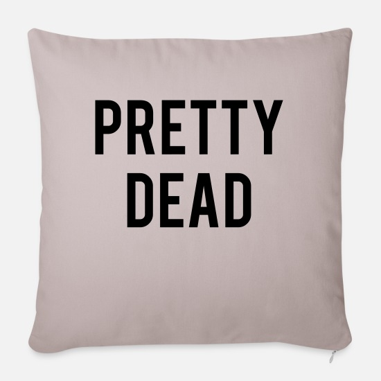 Pretty Pillow Cases - Pretty Dead - Pillowcase 17,3'' x 17,3'' (45 x 45 cm) light grey