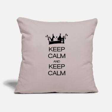 Keep Calm keep calm and keep calm - Housse de coussin