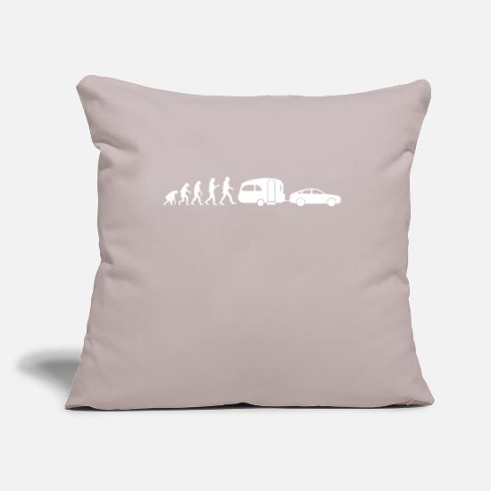Gift Idea Pillow Cases - Camping Evolution Auto Outback Nature Vacation - Pillowcase 17,3'' x 17,3'' (45 x 45 cm) light grey