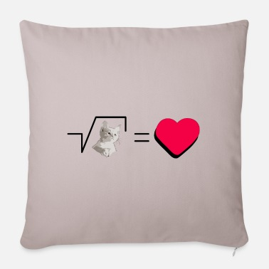 Pull The Root Biscuits Cats Mathematical Hearts Love Love - Pillowcase 17,3'' x 17,3'' (45 x 45 cm)