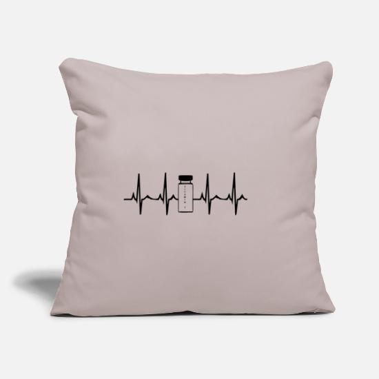 Anabolic Steroids Pillow Cases - Heartbeat Steroids Anabolic Steroids White - Pillowcase 17,3'' x 17,3'' (45 x 45 cm) light grey