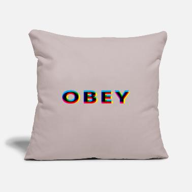 Anaglyph Obey Anaglyphic - Pillowcase 17,3'' x 17,3'' (45 x 45 cm)